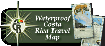 Costa Rica Waterproof Travel Map